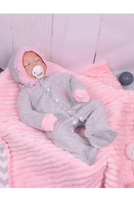 Теплый комбинезон для малышек I love mummy, футер ТМ Happy Tot