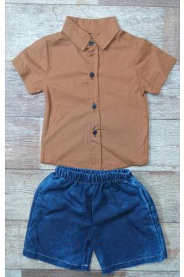 Костюм летний для мальчика (рубашка,шорты)