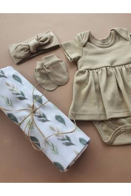 комплект с пеленкой новорожденной