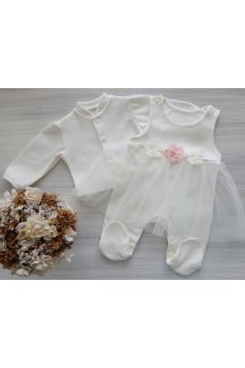 Комплект нарядный для девочки Цветочек, интерлок TM Happy Tot