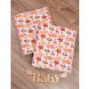 Пеленка для новорожденного Крабики от ТМ Timki, фланель
