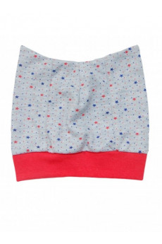 Шапочка для новорожденных «Super baby»красная окантовка ТМ Minikin