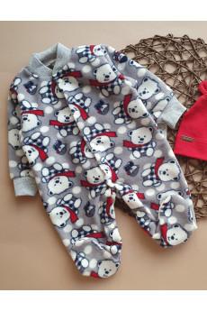 Человечек флисовый  для малышей Мишка северный  ТМ Happy Tot