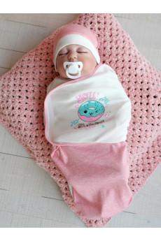 Европеленка для новорождленного с шапочкой ТМ Кай и Герда