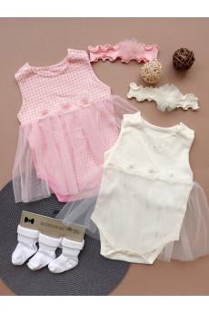 Комплект нарядный для девочки Бусинка, интерлок TM Happy Tot