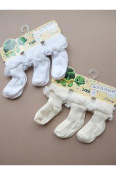 Нарядные носочки с рюшами для девочки