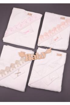 Комплект махровый уголок с рукавичкой Нежность