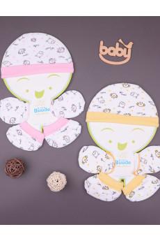 Комплект для новорожденного шапочка+царапки+пинетки в разных цветах