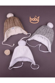 Теплая шапочка Снежок в разных цветах, TM Betis