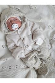 купить утепленный комбинезон для малышей Leopard ТМ Няня для новорожденной малышки