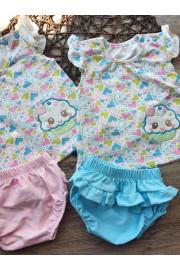 Купить Комплект для девочки: туника с вышивко и трусики с рюшей Милашка ТМ Кай и Герда