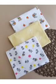 Пеленка Для Новорожденного Лисята,Бурундчки и Мыши 90*110 ТМ Timki, Фланель