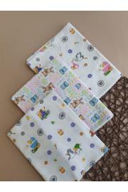 Пеленка Для Новорожденного Зайки и Колясочки 90*110 ТМ Timki, Фланель