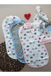 Купить Европеленка для новорожденных с шапочкой в комплекте MIX