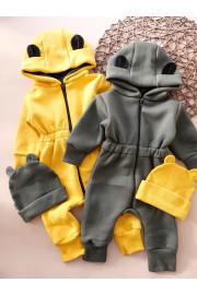 Купить Детский Комбинезон с ушками на молнии, трехнитка на флисе SPACE, ТМ Timki
