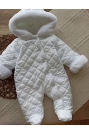 Комбинезон утепленный для малышей белый Барни
