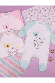 Комбинезон Elephant для новорожденных, бежевый, розовый и мята, ТМ Merry Bee
