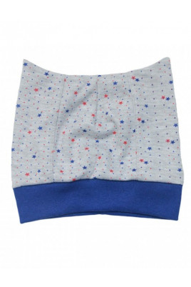 Шапочка для новорожденных «Super baby» синяя окантовка ТМ Minikin