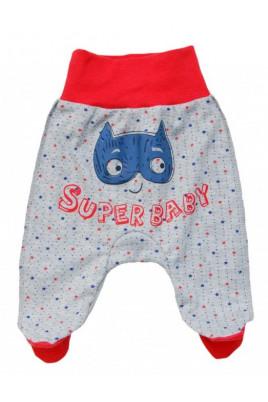 Ползунки на ластике «Super baby» красная резинка ТМ Minikin