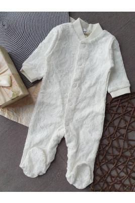 купить комбинезон нарядный ТМ Няня для девочки ажурный для новорожденной малышки