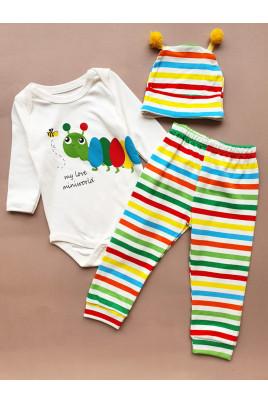 Купить Комплект для малышей с боди Гусеница ТМ Miniworld