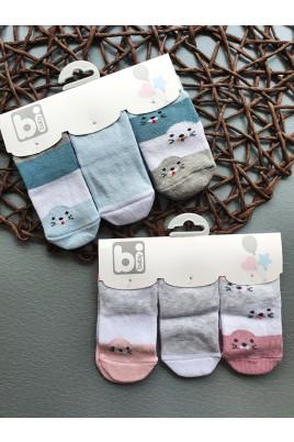 Купить Стильный набор носочков для новорожденных Тюлени, ТМ BiBaby