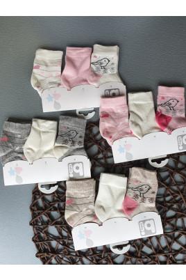 Купить Нежный набор носочков для девочки Птичка, ТМ BiBaby