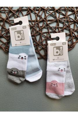Купить Набор носков из 2х пар для малышей Тюлени, ТМ BiBaby