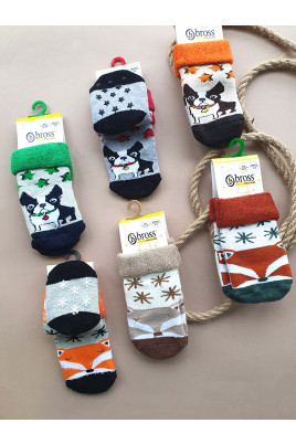 Купить Махровые носочки с прорезиненной подошвой Autumn ТМ Bross