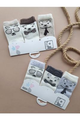 Стильный набор носочков для новорожденных Стильные Мишки, ТМ BiBaby