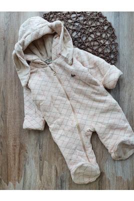 Утепленный комбинезон для малышей с ушками Happy Rabbit, ТМ Няня