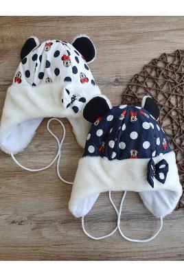 Утепленная шапочка для девочки