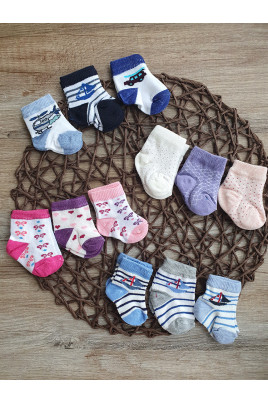 Купить Набор стильных носочков для малышей и новорожденных