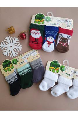 купить новогодние  махровые носочки
