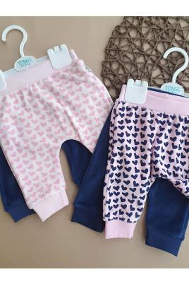 Комплект велюровых штанишек для малышей сердечки Tongs, Турция
