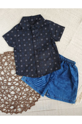 Костюм летний для мальчика (рубашка,шорты)  Турция
