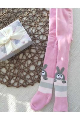 Махровые колготы  розовые  Дюна