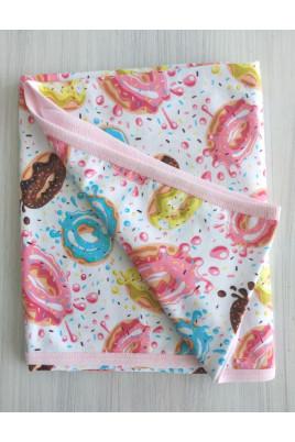 Плед малышам Пончики Happy Tot размер 80*90 см, кулир