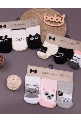 Набор носков для малышей Zoo ТМ Buonumare baby