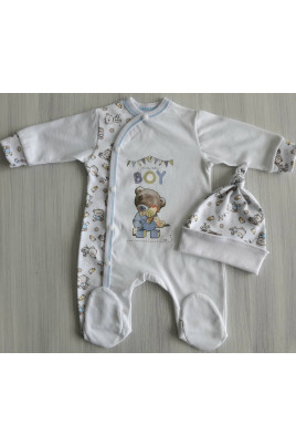 Купить Комплект с шапочкой для новорожденного мальчика BOY ТМ Happy Tot