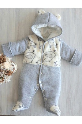 Купить омбинезон теплый для новорожденных ZOO, ТМ Happy tot