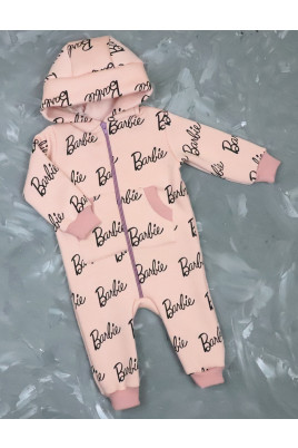Купить Теплый комбинезон для малыша из трехнити с  забавными ушками Barbie TM Timki