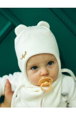 Теплый набор шапка и снуд Белый мишка для девочки ТМ Жоржик