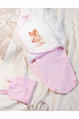 Европеленка для новорождленного с шапочкой Cute Fox,ТМ Кай и Герда
