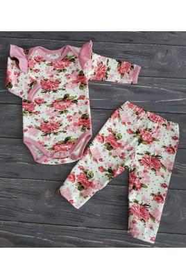 Купить Комплект боди и лосины для девочки Flowers ТМ Timki