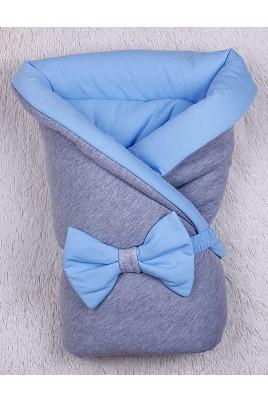 Зимний  конверт на выписку Mini, голубой  ТМ Brilliant baby