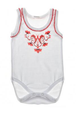 Бодик-вышиванка для девочки ТМ Фламинго