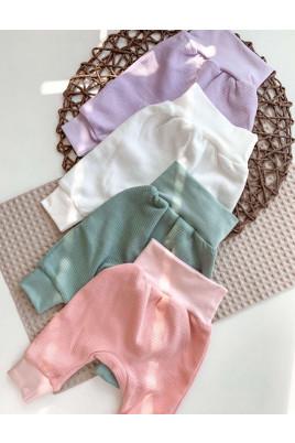 Штанишки на манжете для малышей, интерлок-резинка