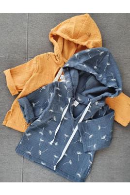 Летняя пляжная рубашка из муслина