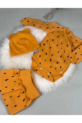 купить Комплект в роддом Капелики (боди, ползуны и шапочка с ушками) Байка